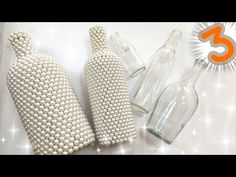 REAPROVEITAMENTO DE GARRAFAS 3 TÉCNICAS DE EFEITO😍😍😍 - YouTube Bead Bottle, Diy Bottle, Wine Bottle Crafts, Bottle Art, New Crafts, Decor Crafts, Diy And Crafts, Arts And Crafts, Paper Crafts