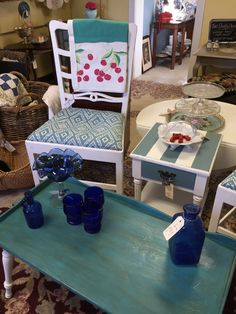 Chairs and small table by Betsy Mitchell