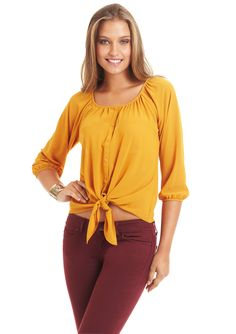 SPENSE  Scoop Neck Blouson Top  $24.99