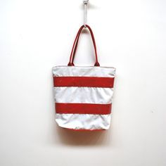 Recycled sail tote via reiter8 on Etsy