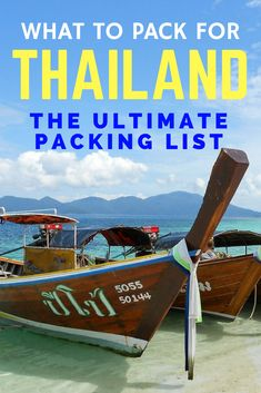Planning your trip and thinking about what to pack for In this ultimate list you'll find all you need to know for a fantastic trip in the Land of the Smiles Ultimate Packing List, Packing List For Travel, Packing Tips, Travel Advice, Travel Tips, Outfits For Spain, Cities, Asia, Travel Images