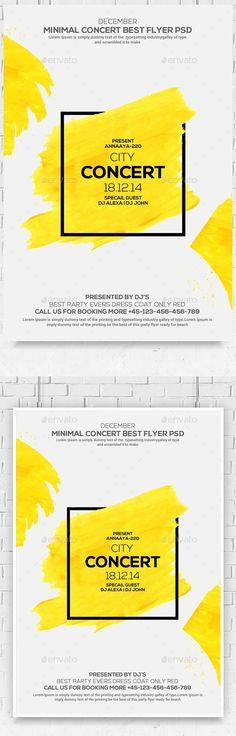 Minimal Colors Flyer Template PSD