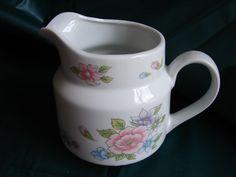 F.T.D.A. Cream Pitcher, Creamer, Transferware, Floral Pattern, Decorative…
