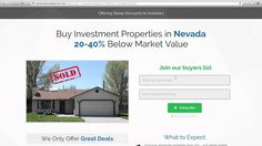 We're offering steep discounts on homes for sale in Nevada. Our Nevada investment properties are priced 20-40% below market value because we need to sell them fast. If you're a cash buyer, then you gotta be on our wholesale Nevada homes buyers list.