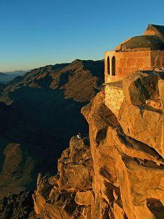 Sunrise at the summit of Mount Sinai, Egypt