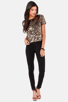 cd097141f4db2 27 Best Sequin top images | Dressing up, Moda femenina, Sequins