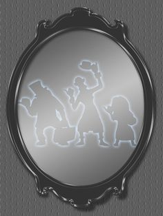 """Haunted Mansion - Hitchhiking ghosts in mirror - Project Life Filler Card - Scrapbooking ~~~~~~~~~ Size: 3x4"""" @ 300 dpi. This card is **Personal use only - NOT for sale/resale** Haunted Mansion/Hitchhiking ghosts belong to Disney. ***"""
