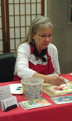 Demoing watercolor cards