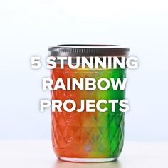 5 Stunning Rainbow Projects - The kids would probably love the rock candy projec. 5 Stunning Rainbow Projects - The kids would probably love the rock candy project. Cute Crafts, Crafts To Do, Crafts For Kids, Jar Crafts, Rainbow Project, Rock Candy, Hacks Diy, Diy Videos, Diy Projects Videos