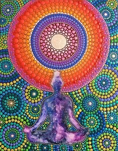 Méditation pour le Mandala de lunivers peinture Peint à la