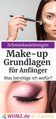 Make-up basics: what do I need for what? - WOMZ - Beginners in particular often find it difficult to apply make-up. Which makeup product is used for - My Little Beauty, Beauty Make Up, Hair Beauty, Beauty Room, Concealer, Bronzer, Contour Makeup, Glam Makeup, Eye Makeup Steps