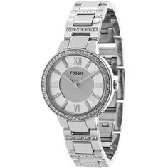 With a chic design that combines traditional elements such as Roman numerals with a modern, adjustable construction, this Fossil women's watch is versatile and elegant. Simply place it on your wrist and adjust the bracelet to enjoy its unique features.
