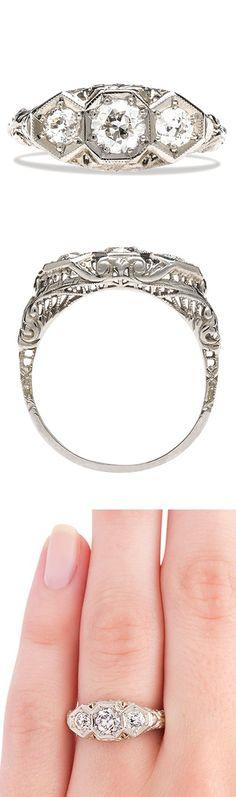 Edwardian Art Deco Diamond Ring