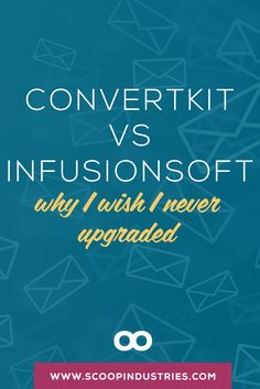Convertkit vs Infusionsoft || The email marketing solution that most small business owners and bloggers should be using is...ConvertKit. *PIN* and get the scoop on the $24,000 mistake I made.