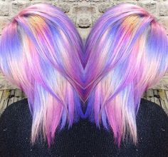 Color  Beauty: Fantasy Unicorn Purple Violet Red Cherry Pink Bright Hair Colour Color Coloured Colored Fire Style curls haircut lilac lavender short long mermaid blue green teal orange hippy boho ombré woman lady pretty selfie style fade makeup grey white silver  Pulp Riot