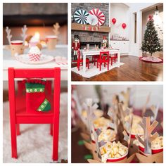 Adorable Be Merry Christmas themed party via Kara's Party Ideas! Planning a holiday party? More ideas!
