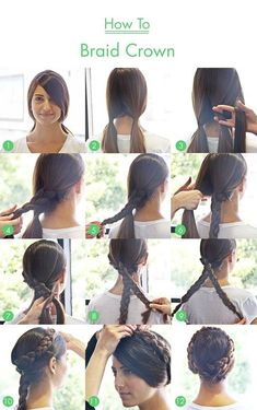 How To Braid Crown. Seems like a difficult concept but surprisingly easy to do!!!