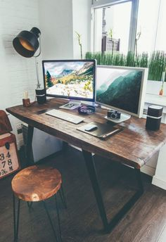 Style Designer Workspace by Vadim Sherbakov I would love to have a work space like this! Industrial Style Designer Workspace by Vadim SherbakovI would love to have a work space like this! Industrial Style Designer Workspace by Vadim Sherbakov