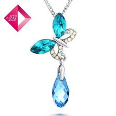 Aliexpress.com : Buy Free Shipping (No Min Order) Neoglory MADE WITH SWAROVSKI ELEMENTS Crystal Flower Necklace Jewelry Women Butterfly Pendant from Reliable made with Swarovski Elements suppliers on NEOGLORY JEWELRY