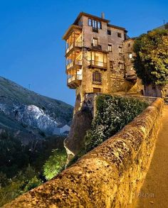 The hanging houses are the most popular attraction in Cyenca, Spain.