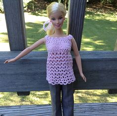 Barbie Day-to-night top - free pattern