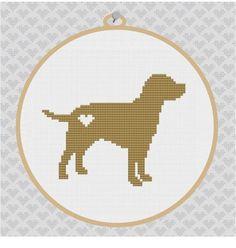 ... Labrador silhouette cross stitch pattern - Etsy