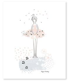 décoration affiche grand format ballerine