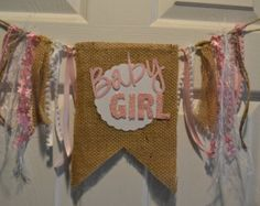 Baby Girl Shower Shabby Chic Banner by PoshBoxParties on Etsy