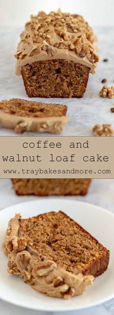 Tray Bake Recipes, Easy Cake Recipes, Sweet Recipes, Baking Recipes, Dessert Recipes, Walnut Cake Recipe Easy, Loaf Recipes, Cheesecakes, Coffee And Walnut Cake