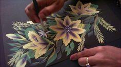 Acrylic Painting- One Stroke Technique Decorative Floral Composition