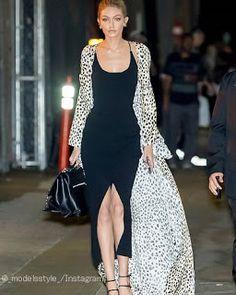 Celebrity Style | 海外セレブリティ最新スタイル情報 : 【ジジ・ハディッド】レオパード柄のロングコートがアクセントなレディスタイル