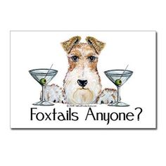 Wire Fox Terrier Pary Postcards (Package of 8)