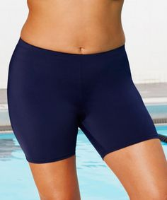 Another great find on #zulily! Navy Aquabelle Short Bikini Bottoms - Plus Too #zulilyfinds