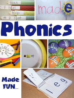 Homeschool ideas / Starting to Read: It's Playtime Fun with Phonics. This week's round-up collection features phonics activities for kids who are just starting to read. Come on over and link up! Phonics Activities, Reading Activities, Teaching Reading, Fun Learning, Activities For Kids, Reading Games, Learning Phonics, Preschool Phonics, Phonics Reading