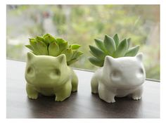 Bulbasaur planter for Jacob for his birthday. He will get a kick out of this!