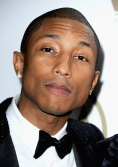Pharrell Williams posed for pictures just before the show.