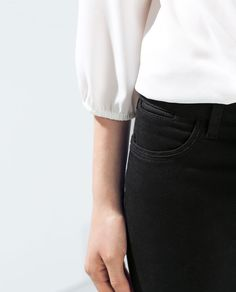 POCKET STRAIGHT TROUSERS from Zara