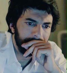 Engin Akyürek - Looking at the laptop in the Turkish TV series KARA PARA ASK, - 2014-2015.
