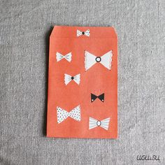 Paper Pocket/Envelope {Bow Red}