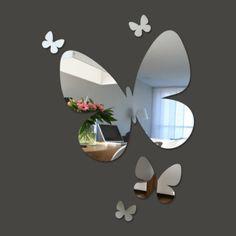 espelhos decorativos em forma de borboletas