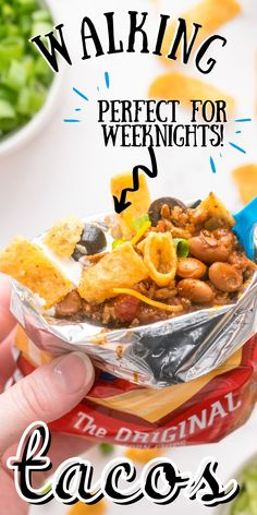 These easy Walking Tacos or Walking Frito Pies are simple to make, and the entire family will love them. You'll love that there are fewer dishes to clean up afterward! For more easy meal ideas follow Easy Budget Recipes! Easy Holiday Recipes, Best Dinner Recipes, Entree Recipes, Grilling Recipes, Pie Recipes, Drink Recipes, Budget Recipes, Budget Meals