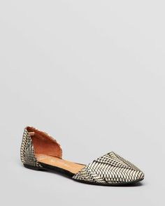 Jeffrey Campbell Pointed Toe D'Orsay Flats - In Love  Bloomingdale's