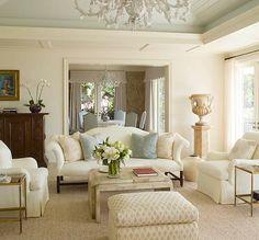 Ivory sofa -living room