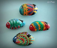 painted rocks - fish