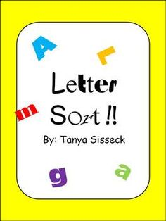 Alphabet Letter Sorts - Provides students with an opportunity to practice sorting upper and lower case letters.