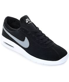 Nike SB Air Max Bruin Vapor Men s Skate Shoes Black Grey Size 10.5 NWB 5e2dd059efb