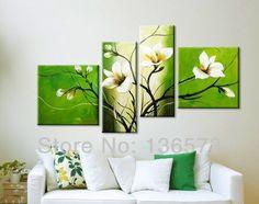 cuadro de flores blancas - Buscar con Google