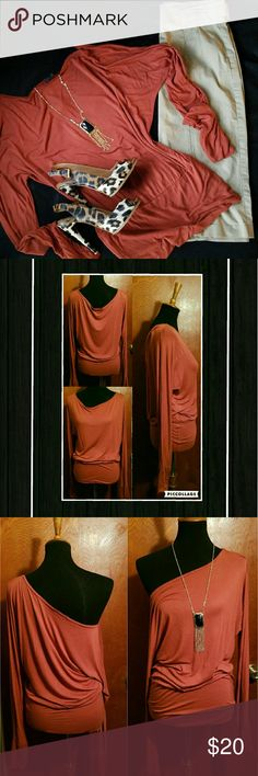 SALMON LONG SLEEVE BLOUSE ❎NO OFFERS DURING SALE.  BUNDLE & SAVE MORE! 😉Salmon Colored Long Sleeve Blouse.  NEVER WORN! Just hanging in my closet.  However, I laundered to freshen up to sell.  EXCELLENT CONDITION!!  *SMOKE FREE & PET FREE HOME* Tops Blouses