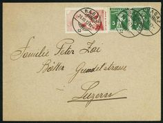 """Switzerland 10 Cmi. Pro Juventute 1912, the scarce Italian Pro Juventute-forerunner fresh colors and in perfect condition with additional franking 5 Rp. Tellknabe (2) on very beautiful cover from """"RAGAZ 26. XII. 12. """" to Lucerne, (Michel. No. III), certificates Liniger, Eichele / SBPV. SBK 11000,- Sfr.  Dealer Gert Müller Auctions  Auction Minimum Bid: 2000.00EUR"""