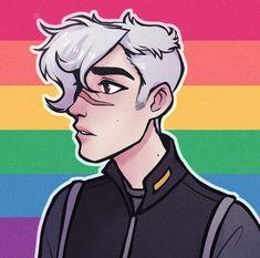 Voltron shadam shiro x adam Form Voltron, Voltron Ships, Voltron Klance, Gay Pride, Pride Flag, Lgbt Anime, Character Art, Character Design, Flag Icon